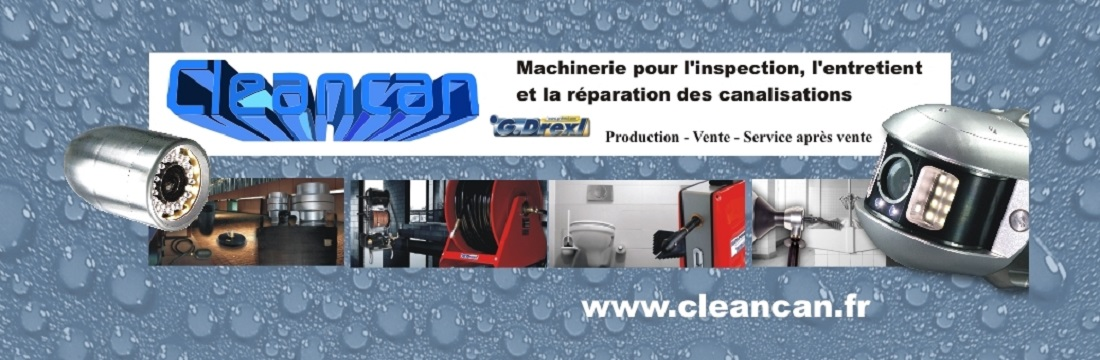 Site de vente de cleancan.fr I Caméra s'inspection I Cureuse I Obturateurs ...